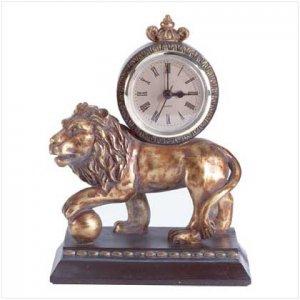 Golden Lion Clock