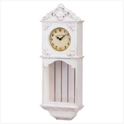 Ornate Ivory Wall Clock