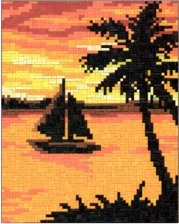 Angies Boat in Sunset for 1x#3 Grid - 3 available