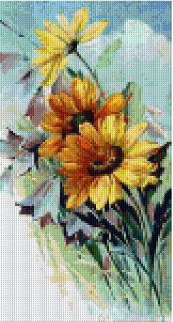 Sunflowers- 6BP - Pixel Pattern DL - 3 available