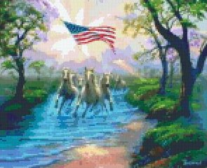 USA Horses - 9BP PIXEL Pattern DL - 3 available