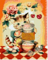 dolls-Honey Cat 4BP--Pixel Pattern Download - 5 available