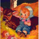 dolls-Baby and Cow-4BP--Pixel Pattern Download - 5 available