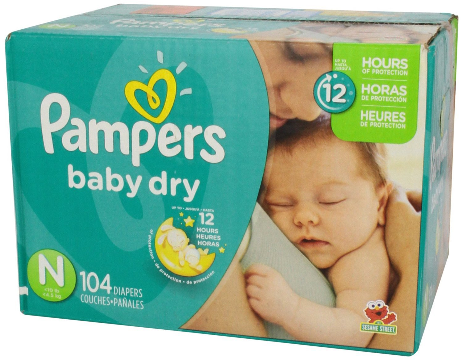 pampers baby dry diapers size newborn 104 count free. Black Bedroom Furniture Sets. Home Design Ideas