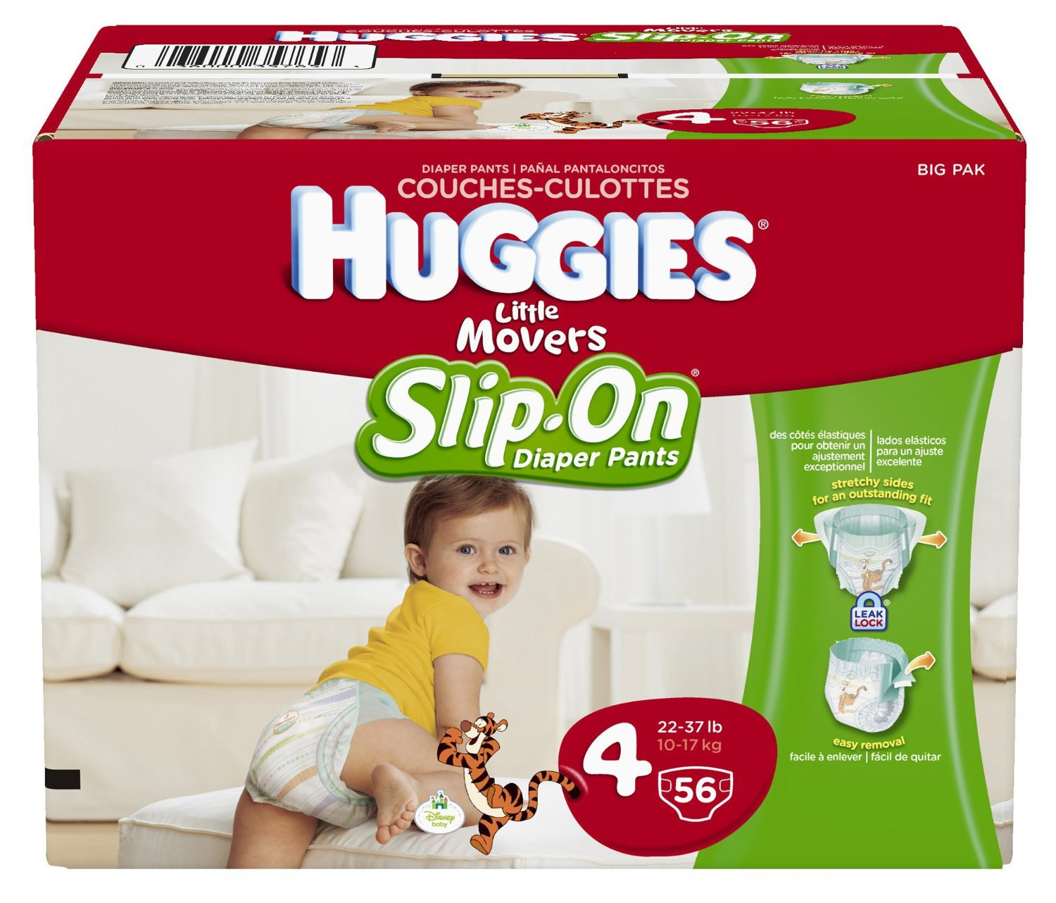 Huggies Little Movers Slip-On Diapers Size 4 - 56 Count (FREE ...
