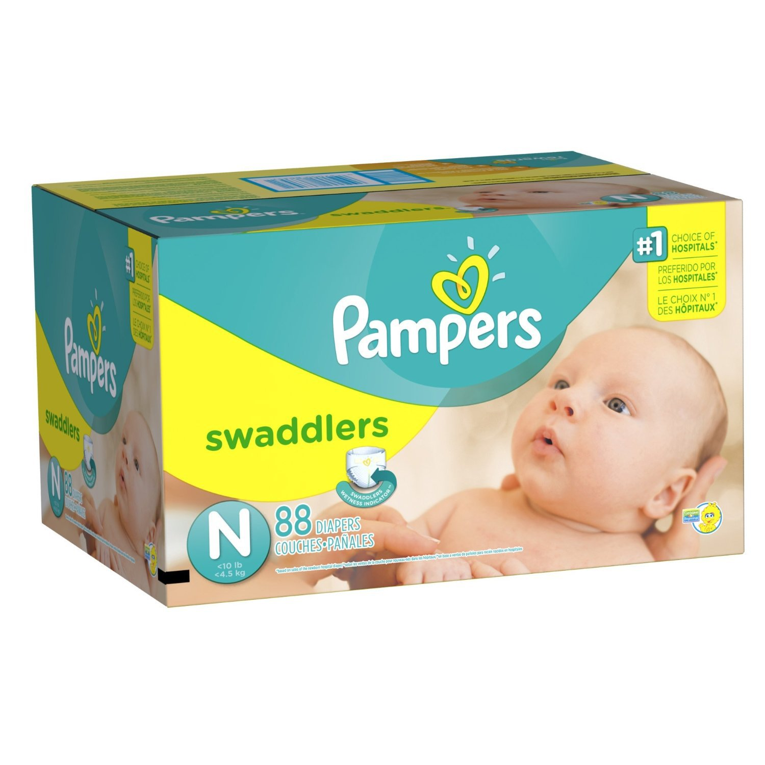 pampers swaddlers diapers size newborn 88 count free. Black Bedroom Furniture Sets. Home Design Ideas