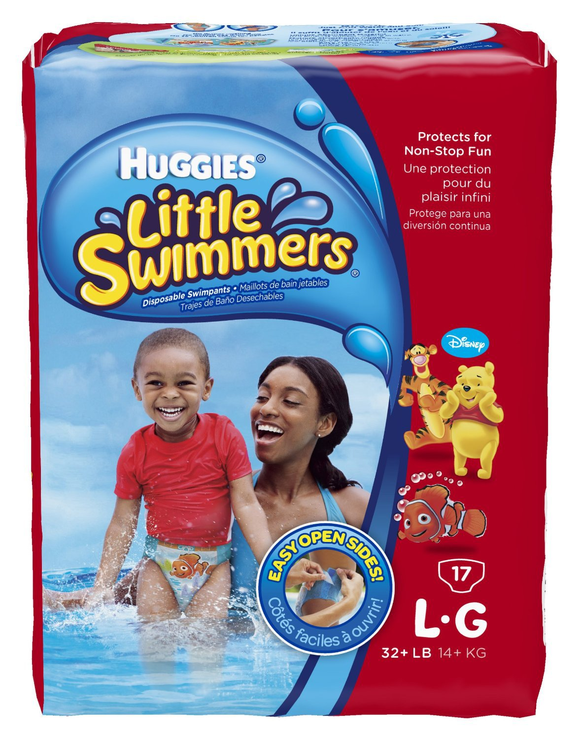 Huggies Little Swimmers Disposable Swimpants Size LG, 6 packs of 17 - 102  Total (FREE SHIPPING)