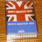 WHOS GREATEST HITS CASSETTE