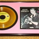 ELVIS PRESLEY FRAMED PICTURE SLEEVE WITH GOLD VINYL 45 ELVIS 50TH ANNIVERSARY