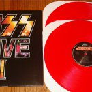 KISS ALIVE III 2-LP SET PRESSED ON RED COLORED VINYL
