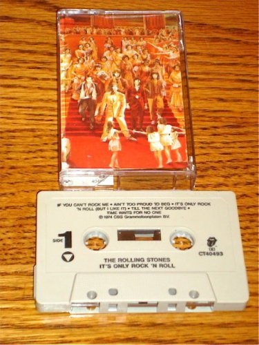 THE ROLLING STONES IT'S ONLY ROCK N ROLL ORIGINAL CASSETTE 1974