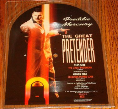 FREDDIE MERCURY THE GREAT PRETENDER SHAPED PICTURE DISC  IMPORT