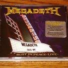 MEGADEATH REST IN PEACE LIVE  ORIGINAL CD