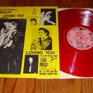 ELVIS PRESLEY  LOVING YOU RED COLORED VINYL LP