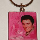 Elvis Presley Keychain Pink Cadillac Picture of Elvis Brand New !
