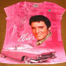 ELVIS PRESLEY PINK CADILLAC T-SHIRT  DOUBLE SIDED - NEW!  SIZE LARGE