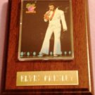 ELVIS PRESLEY PLAQUE WITH CARD