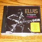 ELVIS PRESLEY Elvis Presley In Person CD  Sealed !