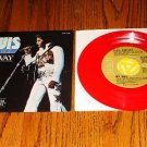 ELVIS America / My Way Picture Sleeve with 45 RED VINYL