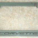 Corvette License Plate Frame
