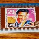 ELVIS PRESLEY GOLD METALLIC CARD Picture of Elvis Stamp