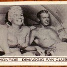 MARILYN MONROE & JOE DIMAGGIO FAN CLUB MAGNET