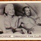 MARILYN MONROE & JOE DIMAGGIO FAN CLUB MAGNET