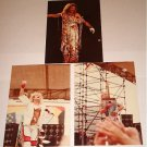 VAN HALEN / DAVID LEE ROTH SET OF 3 ORIGINAL CONCERT PHOTOS