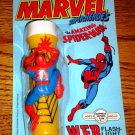 MARVEL SUPERHEROES SPIDERMAN WEB FLASHLIGHT NEW ON CARD