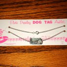 Elvis Presley Silver Dog Tag Anklet On Card