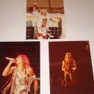 VAN HALEN / DAVID LEE ROTH ORIGINAL SET OF 3 CONCERT PHOTOS