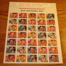Rock & Roll Rhythm & Blues 29 cent  STAMPS UNCUT SHEET