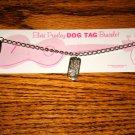 Elvis Presley Silver Dog Tag Bracelet on Card