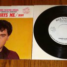 ELVIS Judy / There's Always Me PicSleeve & 45 rpm