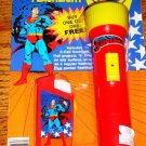 SUPERMAN FLASHLIGHT SET OF 2 SEALED ON CARD