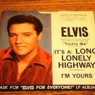 ELVIS I'm Yours / Long Lonely Highway Picture Sleeve
