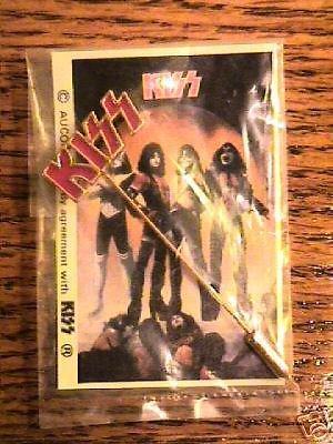 KISS ORIGINAL STICK PIN Sealed on Card AUCOIN 1977