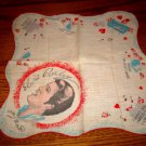 ELVIS PRESLEY ENTERPRISE ORIGINAL HANDKERCHIEF RED 1956