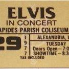 ELVIS CONCERT TICKET RAPIDES PARISH COLISEUM  3/29/77