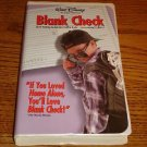 Walt Disney BLANK CHECK VHS in Clam Shell Case