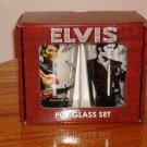 ELVIS PRESLEY PUB GLASS SET NEW IN BOX