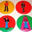 BEATLES LARGE YELLOW SUBMARINE BUTTONS SET OF 4