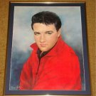 ELVIS PRESLEY A Portrait of Elvis by June Kelly  Professionally Framed