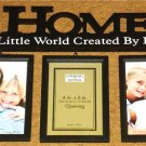 HOME A LITTLE WORLD CREATED BY LOVE 3-PICTURE FRAME SET NEW!