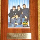 BEATLES PLAQUE WITH PHOTO CARD  NEW!
