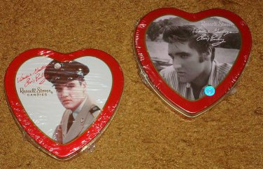 SET OF TWO ELVIS PRESLEY COLLECTIBLE VALENTINE TINS STILL SEALED!  1997