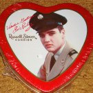 Elvis In The U.S. Army Heart Shaped Valentine Tin Sealed!