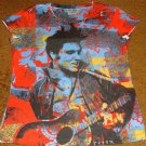 ELVIS PRESLEY JAMMIN' POP ART MISSY CREW NECK SHIRT DOUBLE-SIDED NEW!