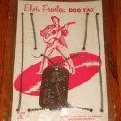 ELVIS PRESLEY DOG TAG ON ORIGINAL CARD