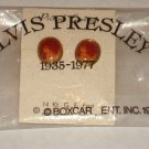 ELVIS BOXCAR PORTRAIT EARRINGS ON ORIGINAL CARD IN ORIGINAL  MYLAR BAG  1977